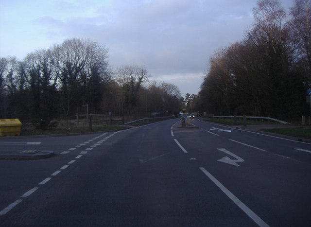 Junction of Horsham Road and Trunley Heath Road