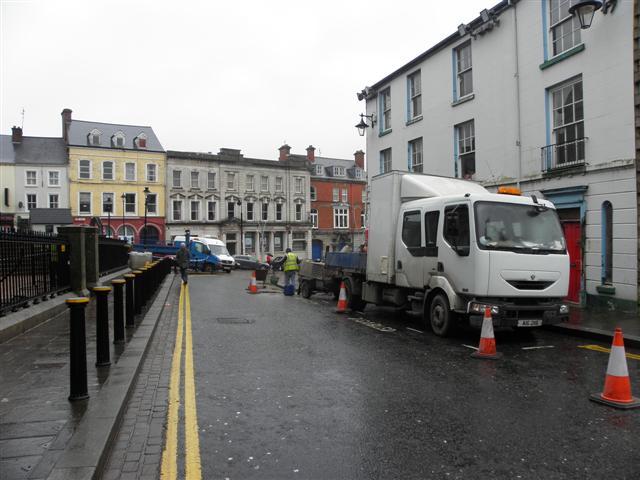 Repair work, John Street, Omagh