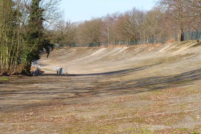Banking at Brooklands Motor Racing Circuit