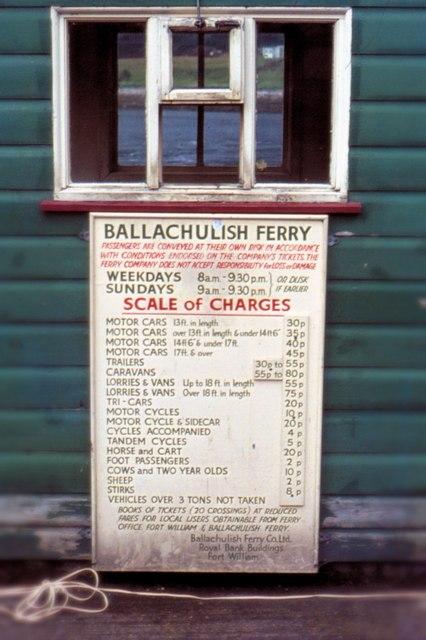 Ballachulish Ferry - 1973