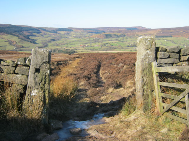 Footpath down from Nab End Moor