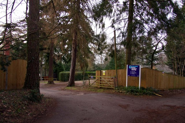 The entrance to Youlbury Camp