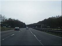 SJ8441 : M6 southbound at junction 15 by Colin Pyle