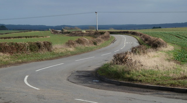 Road towards the A616 from Whaley Thorns