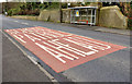 J3784 : Road markings, Jordanstown by Albert Bridge