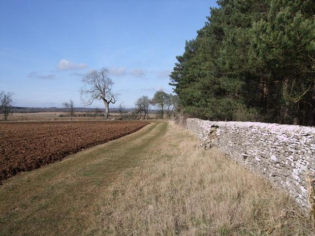 Farm track near Barnsley Wold