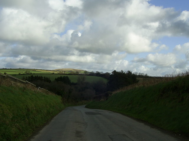 Bend in the road near Little Newcastle