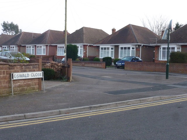 Winton: Oswald Close and Road on St. Oswald's Day