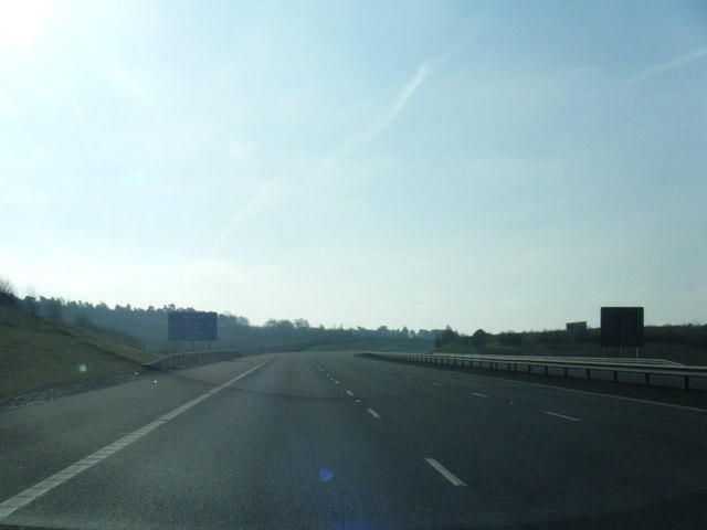 M6 Toll southbound near Weeford Park