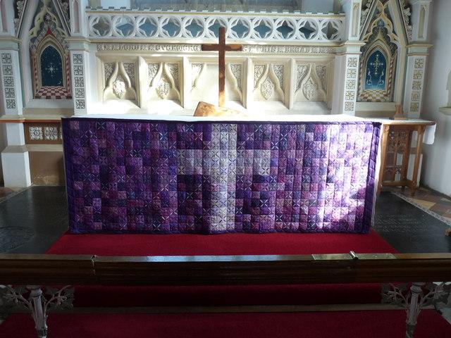 Altar at St Mary's church, Kersey