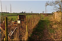 ST0215 : Whitnage : Public Footpath by Lewis Clarke