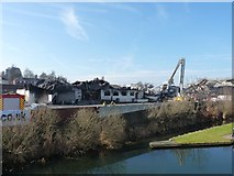 SO9199 : Carver's Builders Merchants - damping down after the fire (1) by Richard Law