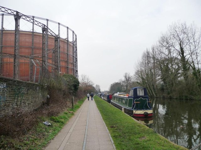 Walking past the gasholders, Kensal Gasworks