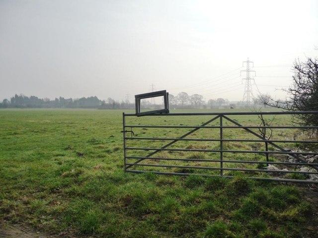 Open field gate