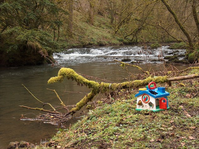 Plastic toy house in Cheedale