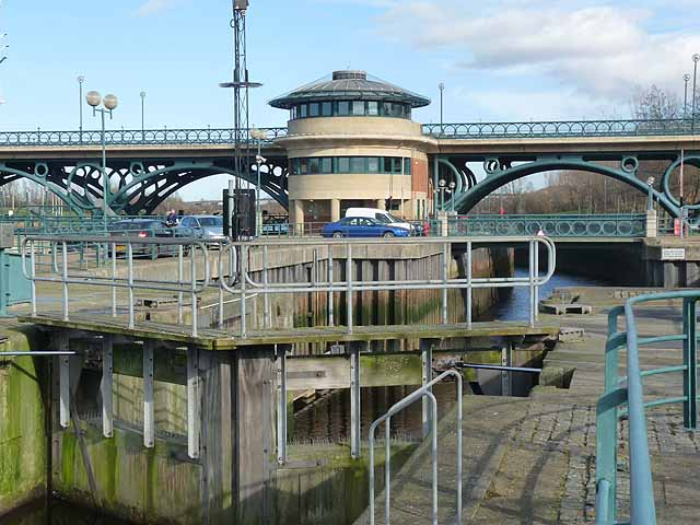Navigation channel at the Tees Barrage