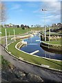 NZ4619 : White water course at the Tees Barrage by Oliver Dixon