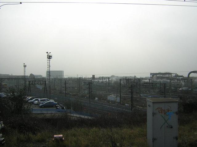 Industrial areas around Willesden Junction