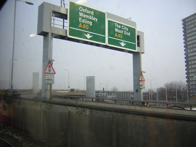 Approaching the Westway, from the West London Line