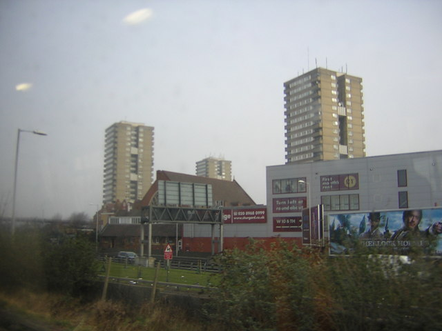 High-rise blocks, from the West London Line