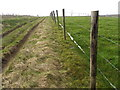 ST8234 : Fence beside the byway, Mere by Maigheach-gheal