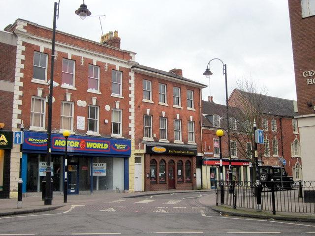 Bromsgrove High Street  Motor World, Bujon & Start of Worcester Road