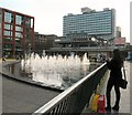SJ8498 : Piccadilly Fountains by Gerald England