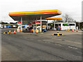 SJ8043 : Fuel Forecourt at Keele Services (Northbound M6) by David Dixon