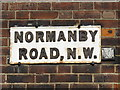 TQ2185 : Sign for Normanby Road, NW10 by Mike Quinn