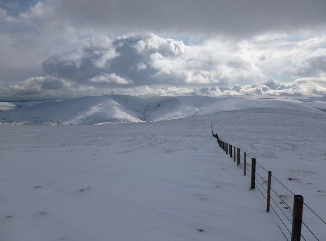 View south towards Carlavin Hill after fresh snow overnight