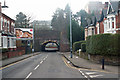 SP0581 : Canal aqueduct and railway bridge over Bournville Lane by Phil Champion