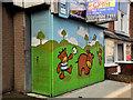 J3673 : Decorated shutter door, Belfast by Albert Bridge