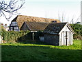 SU2741 : Shed in the churchyard, Grateley by Maigheach-gheal