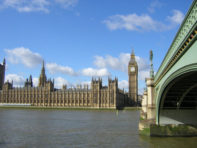 Houses of Parliament from the foot of Westminster Bridge