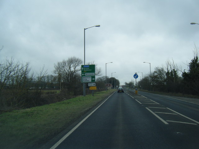 A41 east of Waddesdon