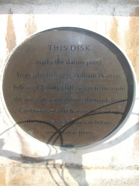 Photo of William Warren bronze plaque
