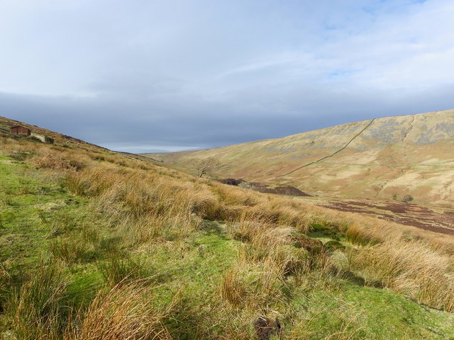 Towards the source of the Hodder River - Bowland Fells