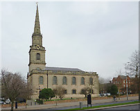 SO9198 : The Church of St John in the Square, Wolverhampton by Roger  Kidd