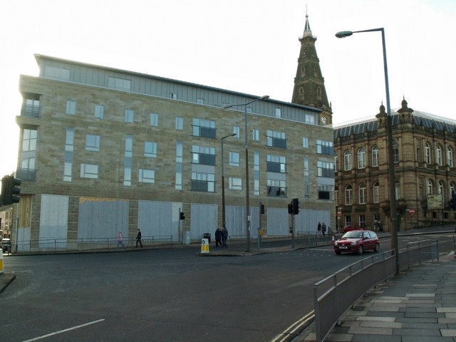 Recently completed mixed use development, Broad Street, Halifax