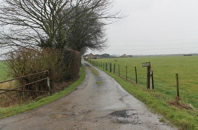 Driveway to Hill's Farm