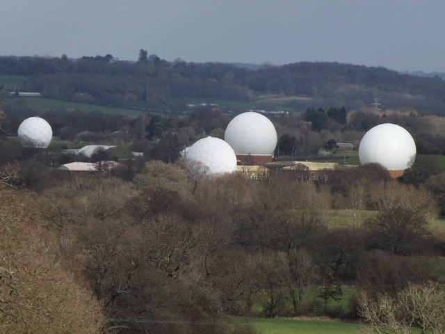 Golf Balls in the Landscape © Colin Smith :: Geograph ... Golf Balls