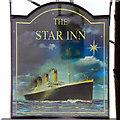 ST7593 : Titanic (Star Inn Sign) by David Dixon