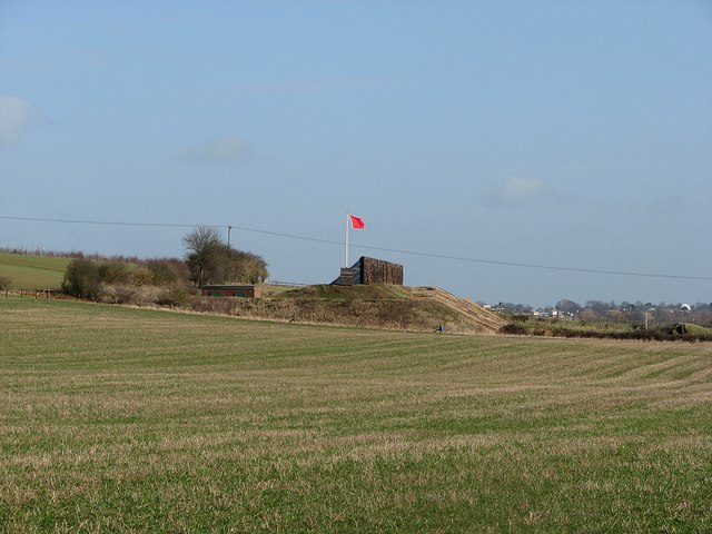 Red flag on the rifle range