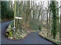 SK1773 : Start of lane for Ravensdale Cottages by Andrew Hill