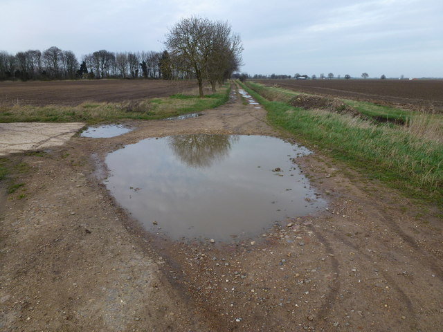 Large puddle on the bank