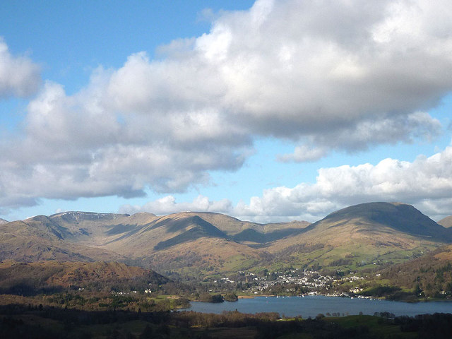 Ambleside and the fells from Latterbarrow