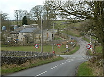 SK1272 : Road junction and farm at Blackwell by Andrew Hill