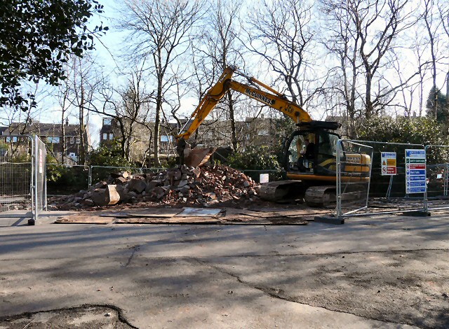 Digging over the remains of Hyde Cemetery Chapel