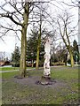 SJ9495 : Carved Squirrel in Hyde Park by Gerald England