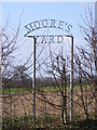 TM3861 : Moore's Yard sign by Adrian Cable